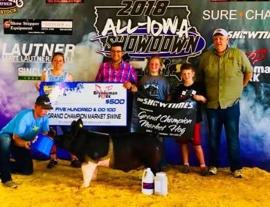 Grand Champion Market Hog All Iowa Showdown