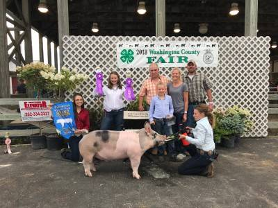 Grand Champion Overall Market Hog Washington Co Fair WI