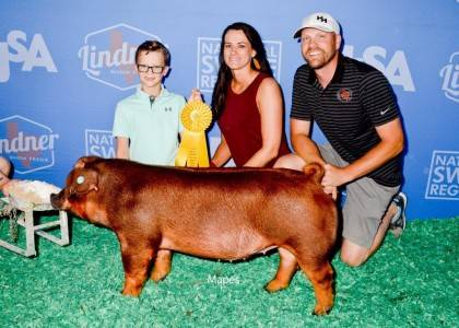 5th Overall Div 1 Duroc Gilt 2018 WPX