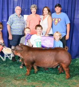 2016 Grand Champion Overall Purebred Breeding Gilt