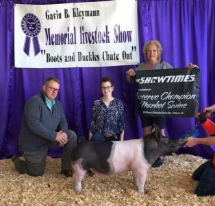 Reserve High Points Barrow Cimarron Valley Livestock Series, KS