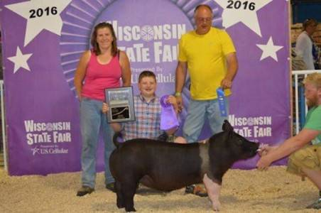 2016 Grand Champion Hampshire Gilt