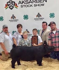 2017 AKSARBEN Grand Champion Market Gilt