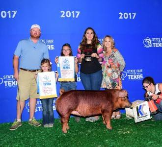 2017 Champion Duroc Gilt